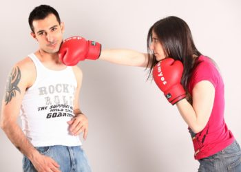 woman punches