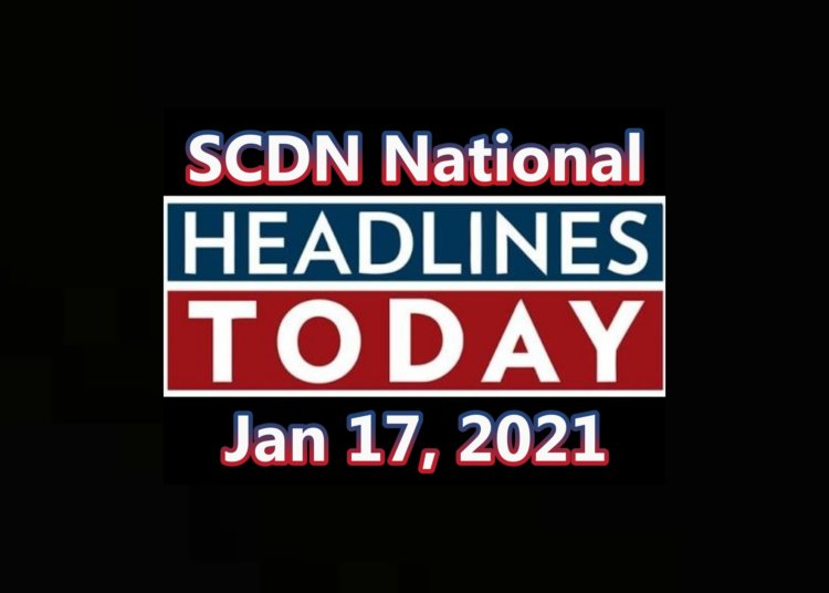 National Headline Rundown for 01/17/21