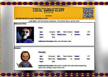 Not Child's Play: Chucky Doll In Amber Alert